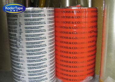 Acrylic Adhesive Bopp Printed Packing Tape Jumbo Rolls 4000mts Length