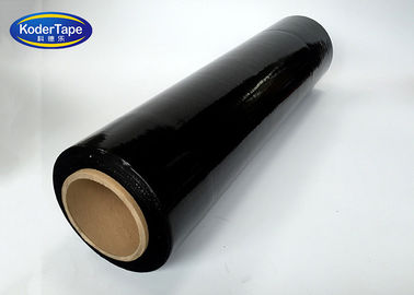 Disesuaikan Lldpe Stretch Film Hitam Platic Pallet Stretch Wrapping 23mic Tebal